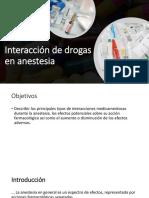 Interacciones Drogas en Anestesia