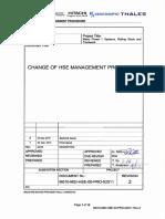 Change of HSE Management Procedure