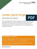 lumbar spinal surgery
