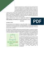 TRABAJO DE MECANICA DE FLUIDOS DELCANAL