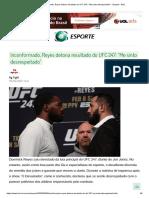 Inconformado, Reyes detona resultado do UFC 247_ _Me sinto desrespeitado_ - Esporte - BOL