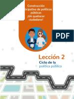ciclo de la politica publica