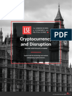 Lse Cryptocurrency and Disruption Online Certificate Course Prospectus