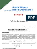 1 Free Electron Fermi Gas