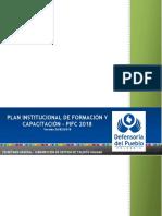 PLAN INSTITUCIONAL DE FORMACIÓN Y CAPACITACIÓN - PIFC 26 02 2018