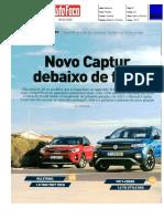 "NOVO RENAULT CAPTUR TCe 130 FRENTE AO KIA STONIC E VW T-CROSS NA ""AUTO FOCO"""