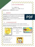 PLAN DE CLASE DE PRE-escritura 1 2020
