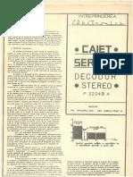 Caiet Service Decodor Maestro