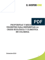 Propuestas y medidas urgentes para  enfrentar la crisis ecológica y climática en Colombia  - v3.1 - Dic01-19_ID