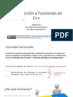 Introducción a Funciones