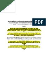 Pré-projeto especialização análise do discurso