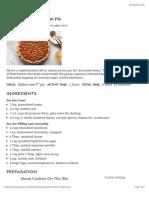 Black-Bottom Hazelnut Pie recipe | Epicurious.com