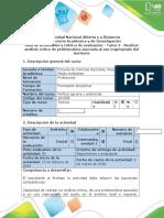 Guía de actividades y rubrica de evaluación - Tarea 2 - Realizar análisis crítico de problemática asociada al uso inapropiado del territorio.docx
