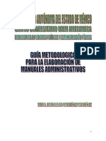 Guia metodológica para elaborar manuales administrativos