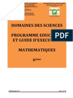 Programme éducatif maths 6è 2020