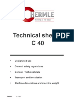 PIC Hermle C40 Technical Sheets