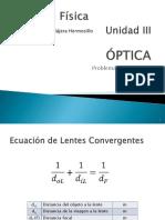 4 OPTICA - PROBLEMAS CON LENTES