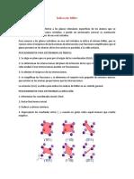 Indices de Miller y estructura cristalina