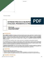 ESTRESSE PRECOCE E NEUROPSIQUIATRIA