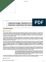 CONSTRUTIVISMO TERAPÊUTICO