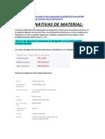 ALTERNATIVAS DE MATERIAL DE CHINA