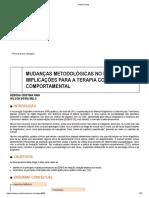 MUDANÇAS METODOLÓGICAS NO DSM-5