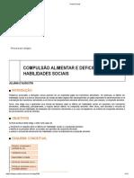 COMPULSÃO ALIMENTAR E DEFICIÊNCIAS