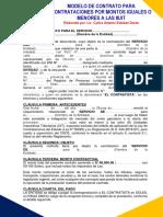 Contrato IGUAL O MENOR A 8 UIT