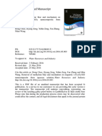 Chen et al. - 2016 - Removal of methylene blue and mechanism on magneti.pdf