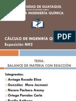 EXPOSICION DE CALCULO 2 BALANCE CON REACCION