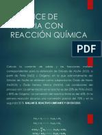BALANCE DE MATERIA CON REACCIÓN QUÍMICA salcedo