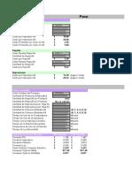 Calculo de Costos - Serigrafia