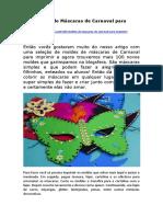 100 Moldes de Máscaras de Carnaval para Imprimir.pdf