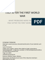 ITALY AFTER THE FIRST WORLD WAR (1)