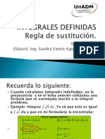 Integrales indefinidas regla de sustitución