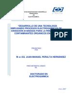 Desarrollo de una tecnología empleando procesos electroquímicos de oxidación avanzada para la remoción de contaminantes orgánicos en agua.pdf