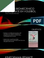 ANÁLISIS BIOMECÁNICO DEL REMATE EN VOLEIBOL presentación