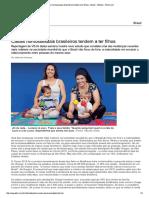 00 TCC - Casais homossexuais brasileiro tendem adotar filhos - Notícia - VEJA