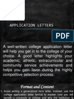 APPLICATION LETTERS