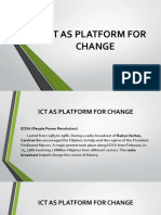 ICT AS PLATFORM FOR CHANGE