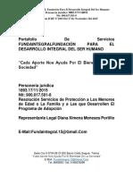 PORTAFOLIO DE SERVICIOS FUNDAINTEGRAL