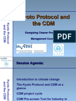 Kyoto Protocol and CDM - Presentation