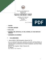 Agenda Feb 2020