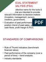 Financial Statement Analysis (Fsa)