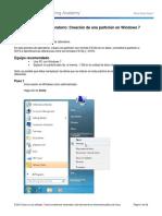 5.2.4.3 Lab - Creación de una partición en Windows 7.docx