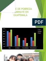 INDICE DE POBREZA DISMINUYE EN GUATEMALA