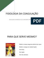 FISIOLOGIA DA COAGULAÇÃO