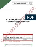 G(GCE)004 ADOPCIÓN DE GUÍA DE PRÁCTICA CLÍNICA – SÍNDROME CORONARIO AGUDO
