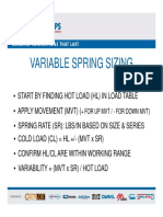 Variable Spring Sizing Tutorial