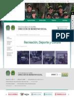 Recreación, Deporte y Cultura - Portal Policia